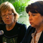 Marie-Neige Houchard et Martine Aubry